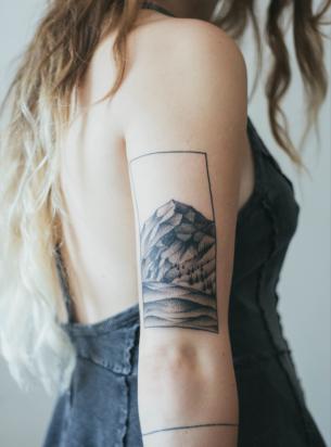 Mountain Arm Tattoo