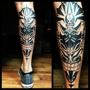 Tribal Black Leg Ink