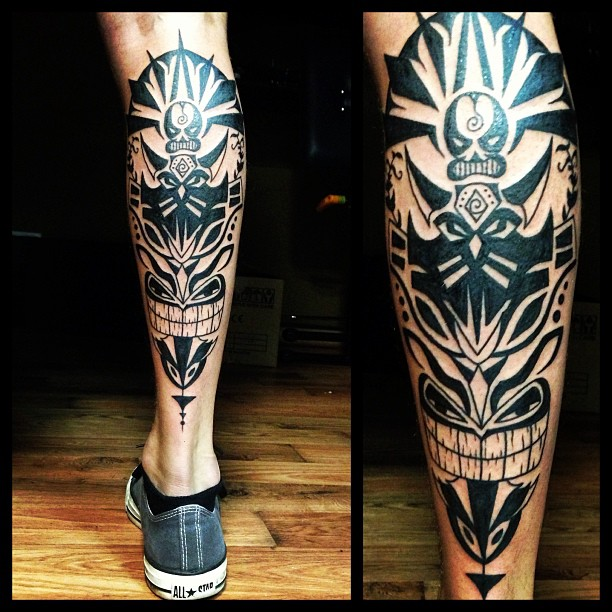 Tribal Black Leg Ink