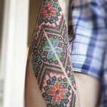 Amazing Pattern Tattoo By Dmitri Khranovski