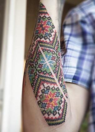 Amazing Pattern Tattoo By Dmitri Khranovski