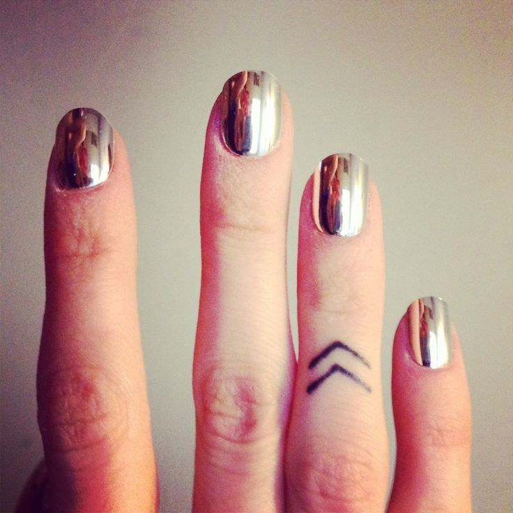 Arrows Small Finger Tattoo