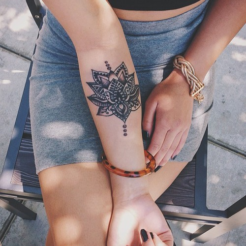 Beautiful Henna Arm Tattoo Best Tattoo Design Ideas