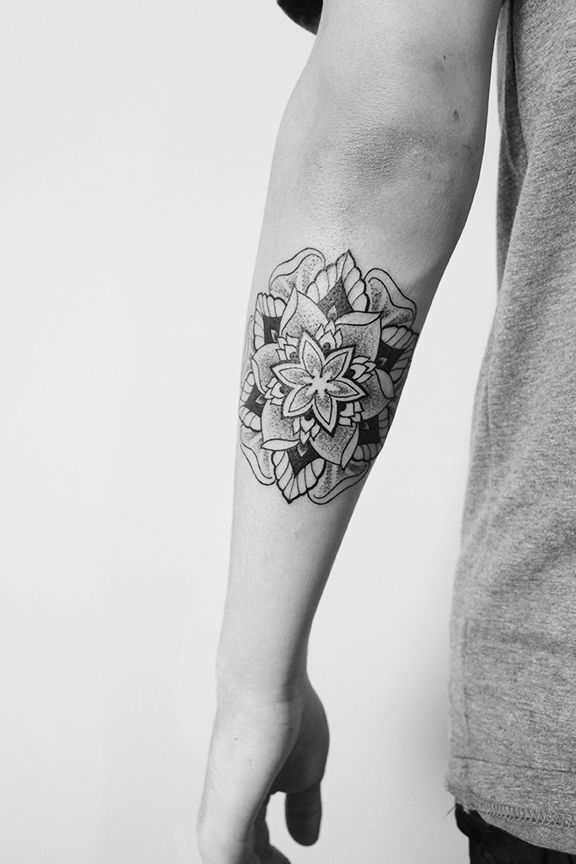 Beautiful Ornamental Flower Tattoo