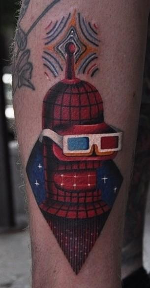 Bender From Futurama Tattoo