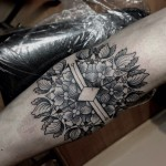 Flower And Diamond Tattoo