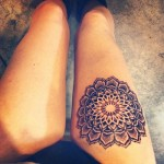 Beautiful Mandala Thigh Tattoo