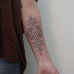 Minimal Tribal Pattern Tattoo