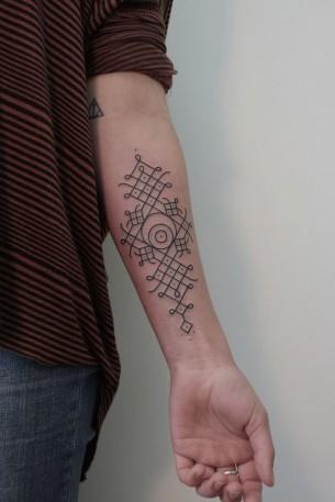Minimal Tribal Pattern Tattoo