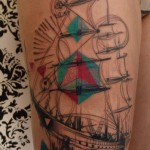 Ship Tattoo By Dead Romanoff