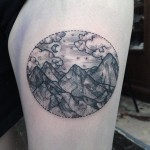 Circle Landscape Tattoo
