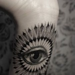 Dot Work Eye Tattoo