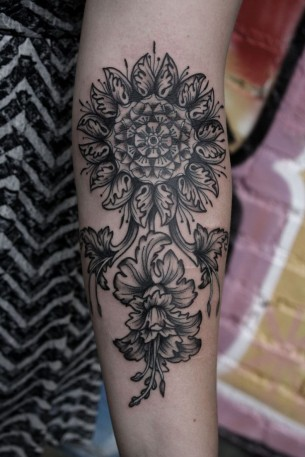 Gorgeous Floral Tattoo Done By Baylen Levore
