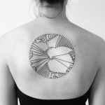 Minimal Circle Tat On Back