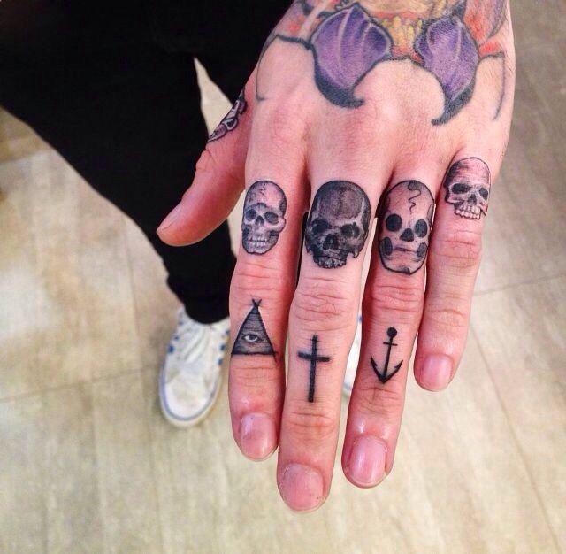 Skulls On Fingers