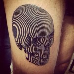Amazing 3D Optical Skull Tattoo