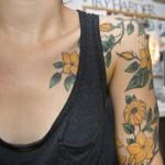 Beautiful Yellow Flowers Tattoo