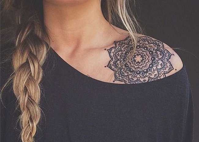 mandala shoulder tattoo best tattoo ideas designs. Black Bedroom Furniture Sets. Home Design Ideas