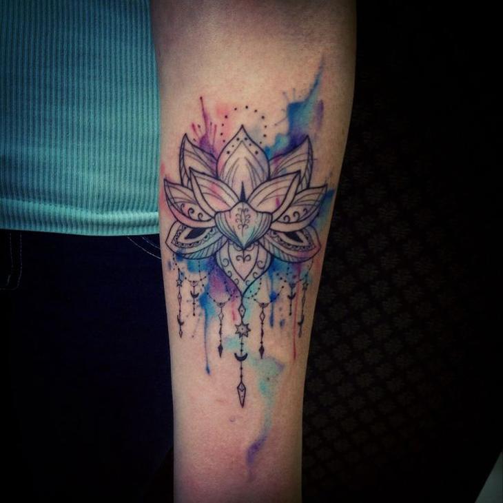 mandala watercolor tattoo best tattoo design ideas. Black Bedroom Furniture Sets. Home Design Ideas