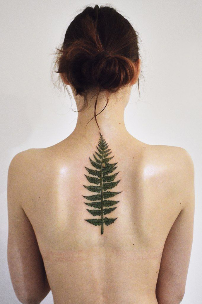 Fern Tattoo by Olga Nekrasova