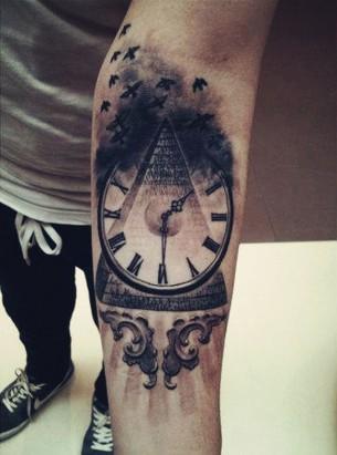 Time & Money Flies Tattoo