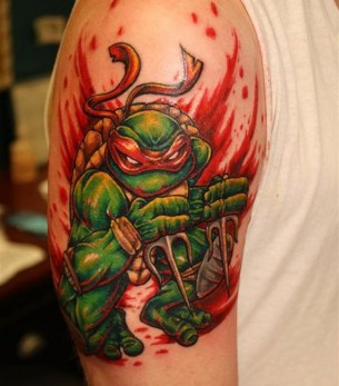 Raphael Ninja Turtle Tattoo