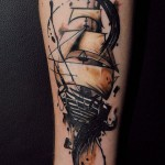 Traditional Sailing Ship Tattoo