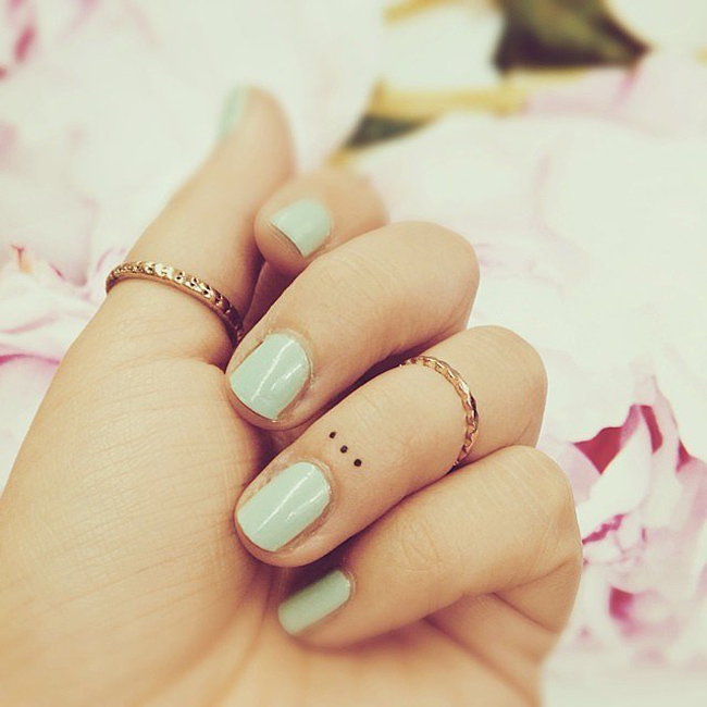 Finger tattoo dots meaning