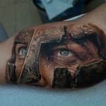 Realistic Gladiator Tattoo