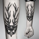Antlers Forearm Tattoo