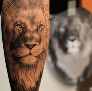 Majestic Lion Tattoo