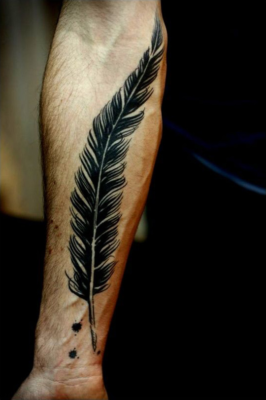 Large Forearm Feather