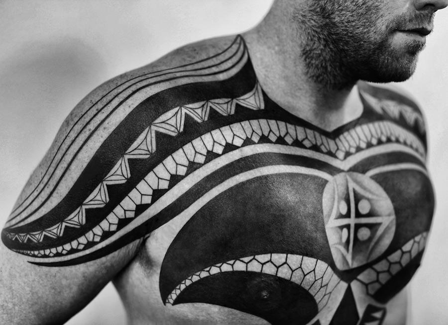 Black Chest Tattoo