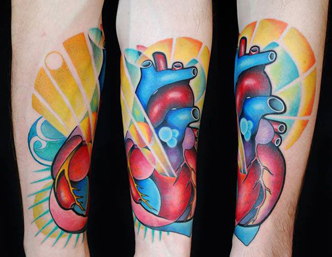 Colorful Heart Tattoo