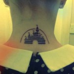 Disney Neck Tattoo