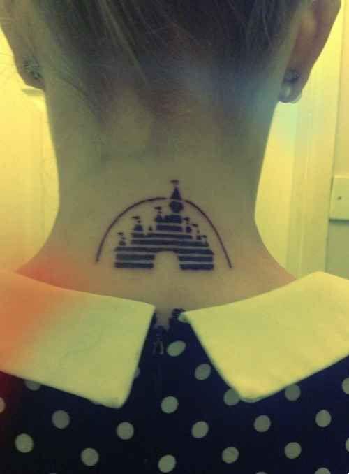 Disney Neck Tattoo