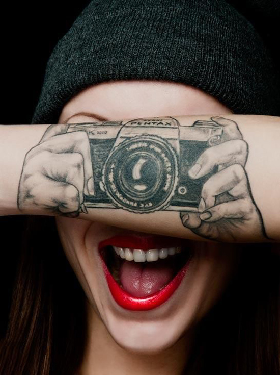 Camera Forearm Tattoo
