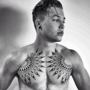 Geometric Chest Tattoo