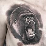Gorilla Chest Tattoo