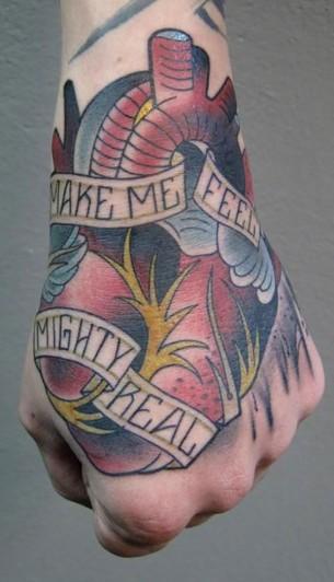 Heart Hand Tattoo