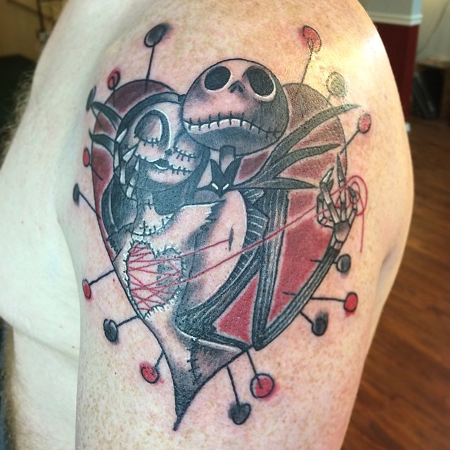 Couple Jack And Sally Tattoos
