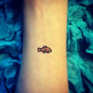 Small Clown Fish Tattoo