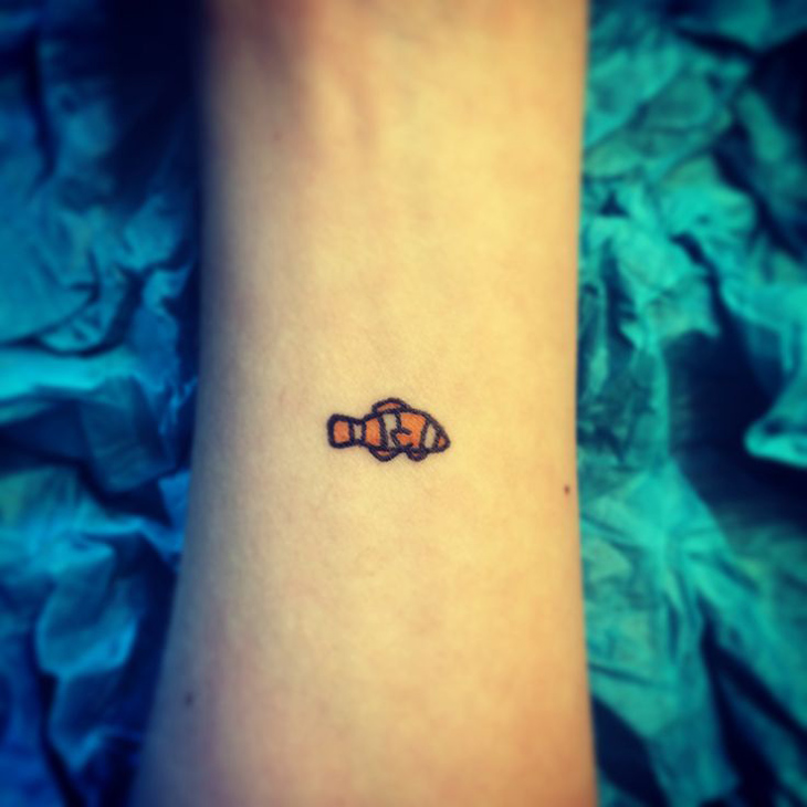 Small Clown Fish Tattoo
