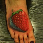 Strawberry Foot Tattoo