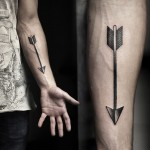 Arrow Forearm Tattoo