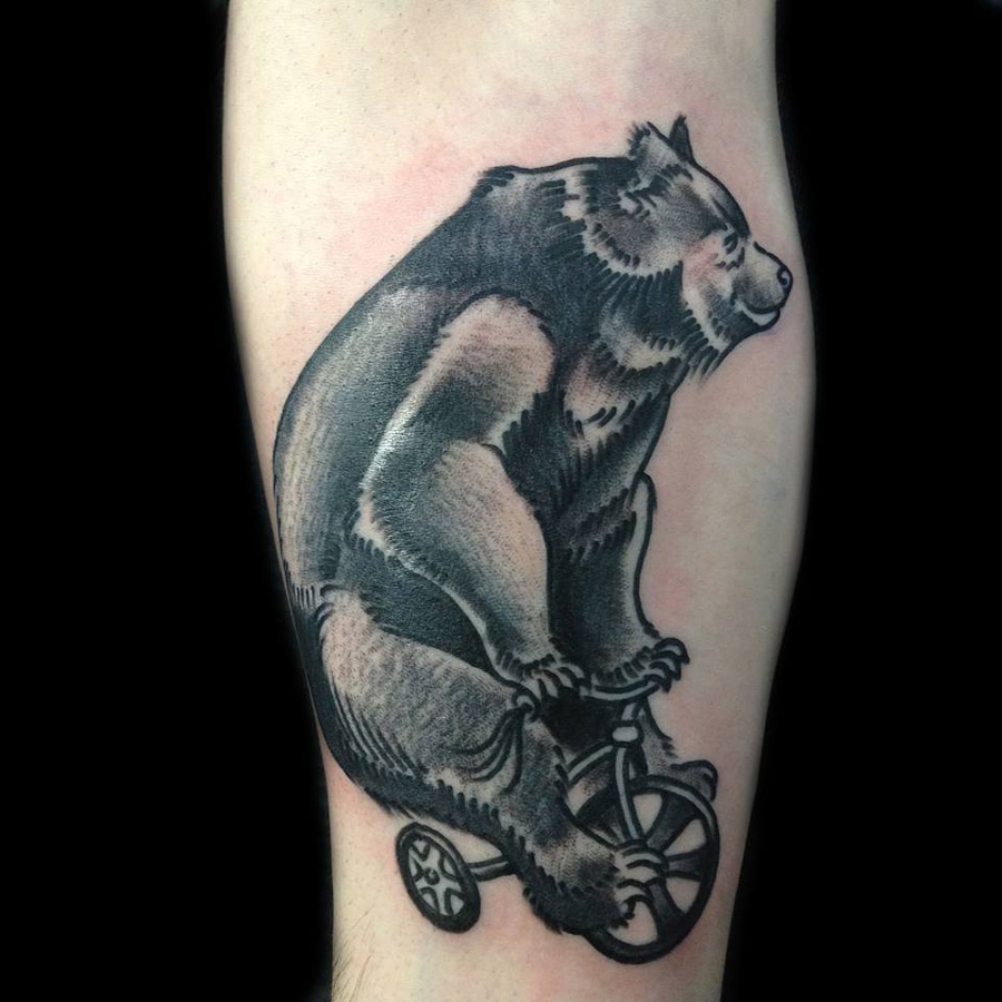 Bear Riding Tattoo