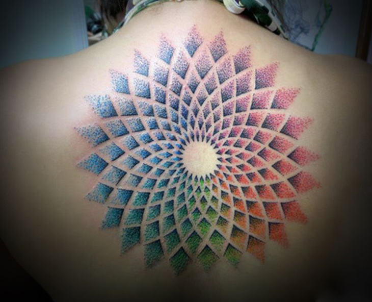 Colorful Mandala Tattoo | Best tattoo design ideas