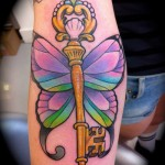 Butterfly Key Tattoo