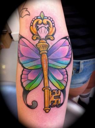 Butterfly Key Tattoo