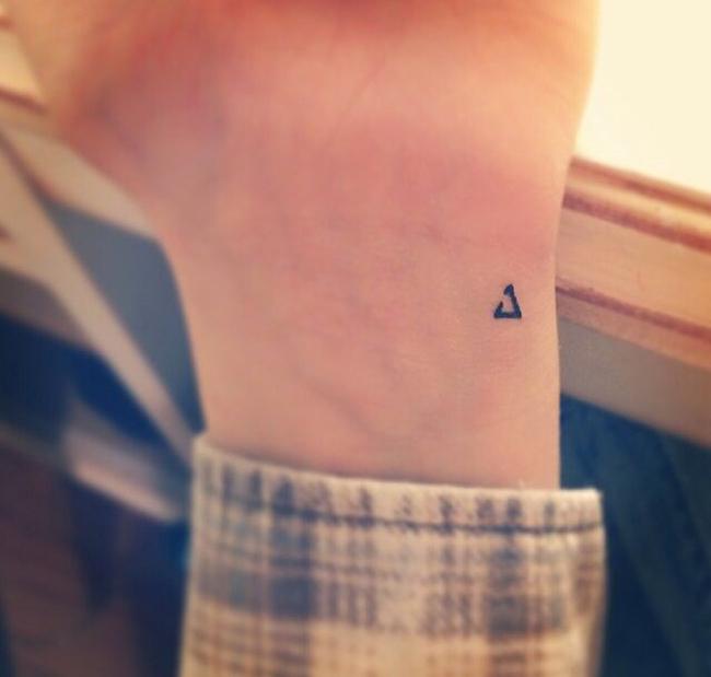 Tiny Delta Wrist Tattoo